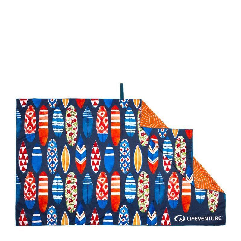 Lifeventure SoftFibre Printed Recycled Towels - Serviette de voyage Surfboards Taille unique