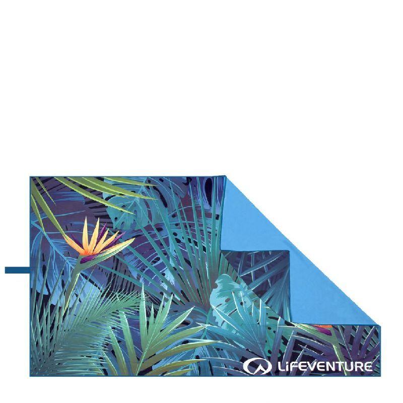 Lifeventure SoftFibre Printed Recycled Towels - Serviette de voyage Tropical Taille unique