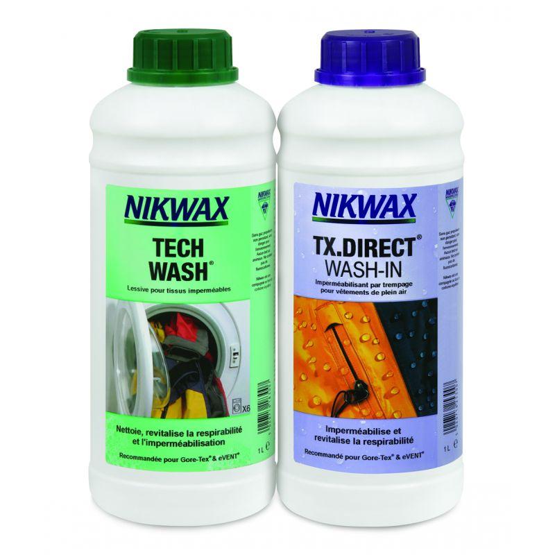 Nikwax Twin Pack - Lessive Tech Wash et impermabilisant TX. Direct 2 x 1 L
