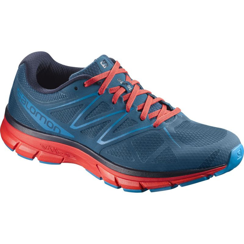 Sonic - Chaussures running homme Moroccan Blue / Fiery Red / Hawaiian Su 44.2/3 zax2AD8B