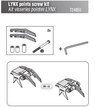 Petzl Kit visserie pour crampons Lynx