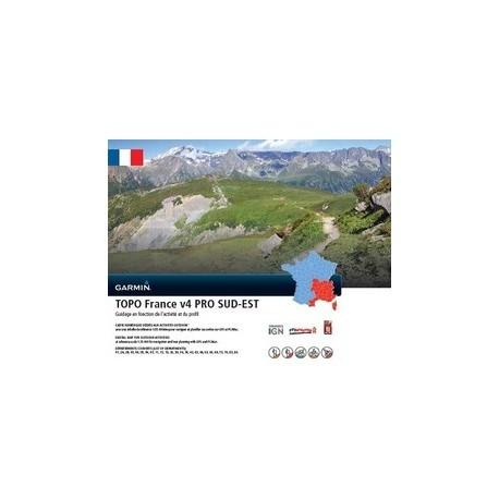 Garmin TOPO France v4 PRO - Sud-Est - Cartographie IGN