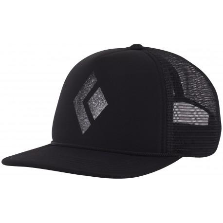 Black Diamond Flat Bill Trucker Hat - Casquette