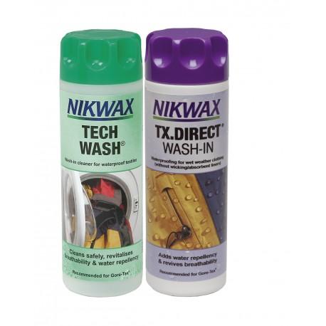 Nikwax Twin Pack - Lessive Tech Wash et impermabilisant TX. Direct Unique