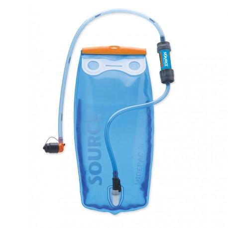 Source Widepac 2 L + filtre Sawyer - Poche à eau