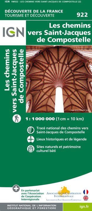 IGN Chemins vers Saint-Jacques De Compostelle - Carte topographique