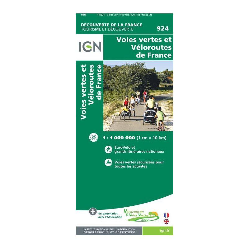 IGN Voies Vertes et Veloroutes de France - Carte topographique