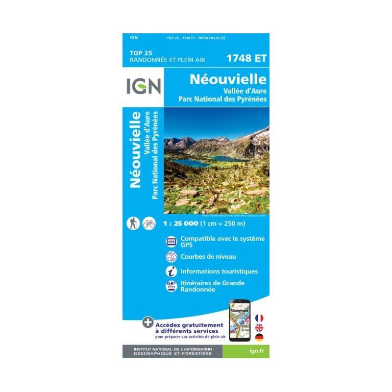 Ign Neouvielle Vallee D Aure Parc National Des Pyrenees Carte Topographique