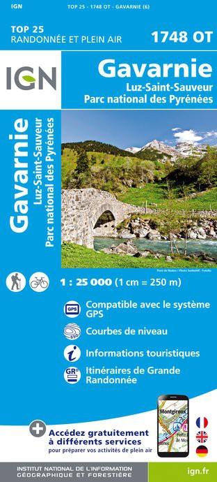 IGN Gavarnie / Luz-St-Sauveur / Parc National des Pyrénées - Carte topographique
