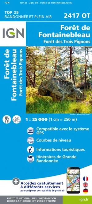 IGN Forêts de Fontainebleau et des Trois Pignons - Carte topographique