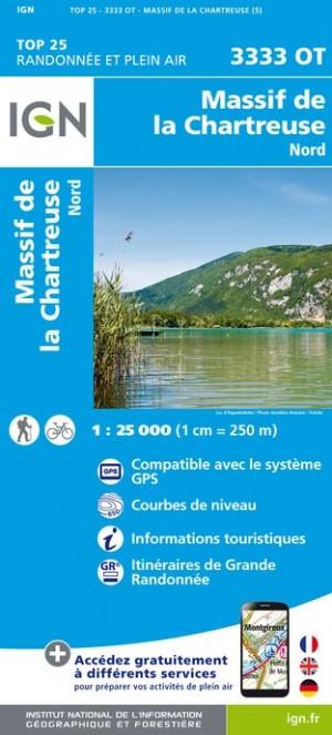 IGN Massif de la Chartreuse Nord - Carte topographique