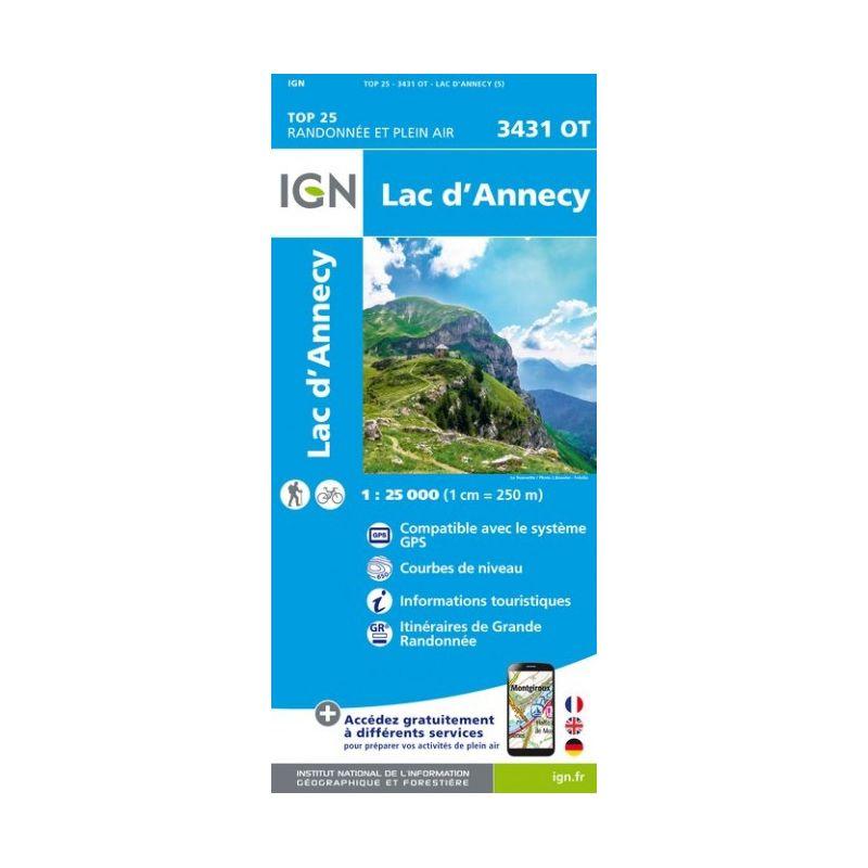 IGN Lac d'Annecy - Carte topographique