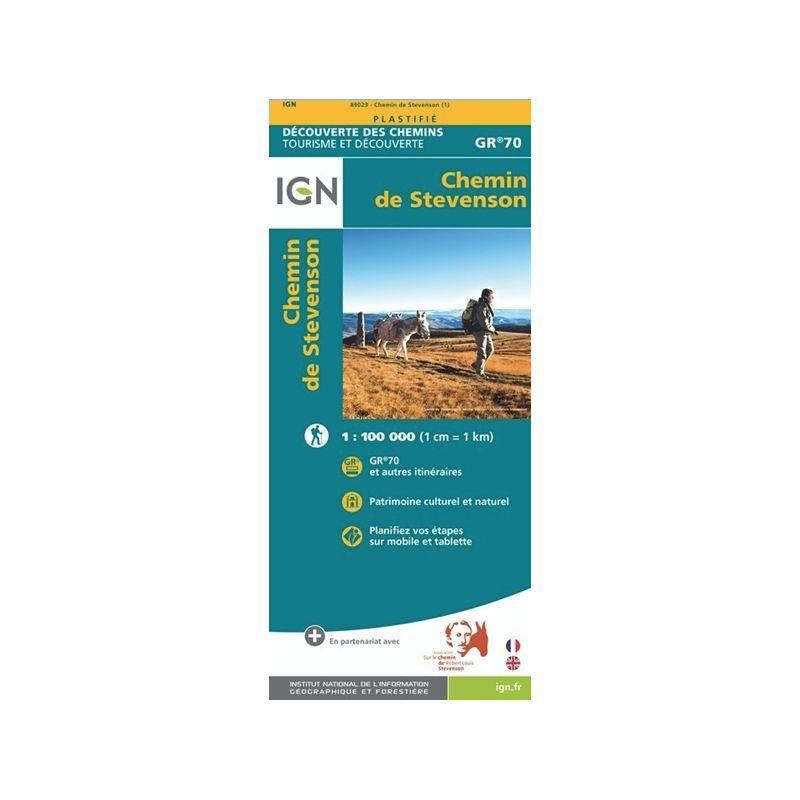 IGN Chemin de Stevenson - Carte topographique