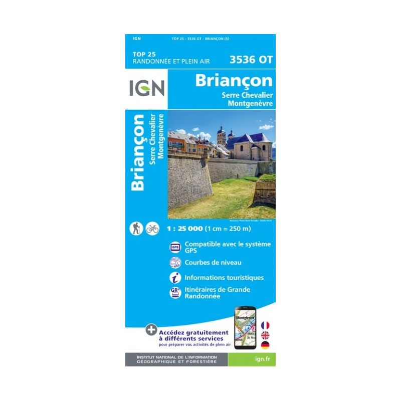 IGN Briancon / Serre-Chevalier / Montgenevre - Carte topographique
