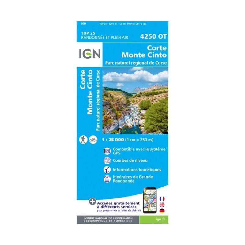 IGN Corte / Monte Cinto / PNR de Corse - Carte topographique
