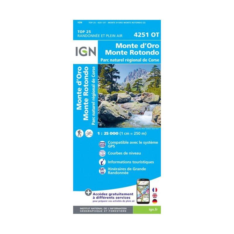 IGN Monte D'Oro / Monte Rotondo / PNR De Corse - Carte topographique