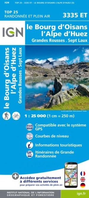 IGN Le Bourg-D'Oisans / L'Alpe-D'Huez / Grandes Rousses / Sept Laux - Carte topographique