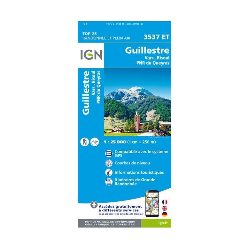 IGN Guillestre / Vars / Risoul / PNR du Queyras - Carte topographique